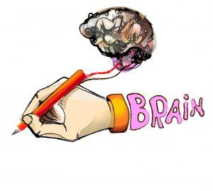 scris cu creier